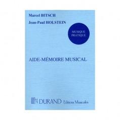 Aide mémoire musical BITSCH/HOLSTEIN