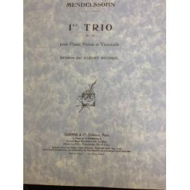 1er TRIO Op 49 pour Piano,Violon et Violoncelle de MENDELSSOHN