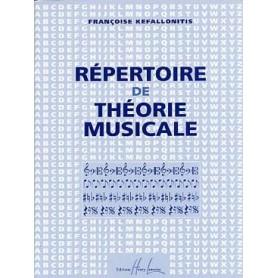 Répertoire de théorie musicale Françoise Kefallonitis