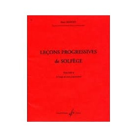 Leçons progressives de solfège de Alain GRIMOIN vol II