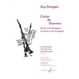 Cahier de Gammes de Guy DANGAIN La Clarinette