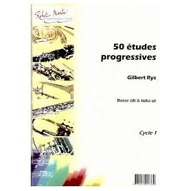 50 études progressives de Gilbert RYS pour Basse SI b et Tuba en UT