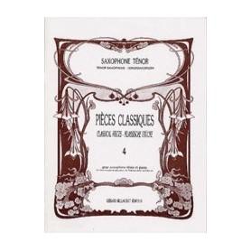 PIECES CLASSIQUES Vol 4 pour saxophone ténor et Piano