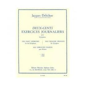 DEUX-CENTS EXERCICES JOURNALIERS pour xylophone de Jacques DELECUSE