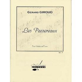 LES PASSEREAUX de Gérard GIROUD POUR VIOLON ET PIANO