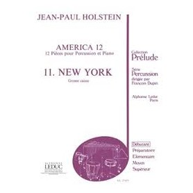AMERICA 12 11.NEW YORK Jean Paul HOLSTEIN Grosse caisse